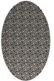 rug #312053 | oval blue-green circles rug
