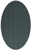 rug #312105 | oval blue-green rug