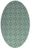 rug #312109 | oval green circles rug