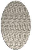 rug #312117 | oval white circles rug