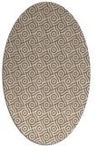 rug #312129 | oval beige circles rug