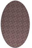 rug #312133 | oval pink geometry rug