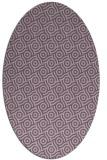 rug #312157 | oval purple circles rug