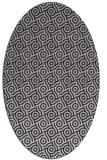 rug #312177 | oval orange circles rug