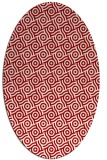 rug #312217   oval red circles rug