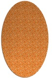 rug #312237 | oval red-orange circles rug