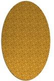 rug #312281 | oval yellow geometry rug