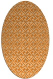 rug #312293 | oval beige geometry rug