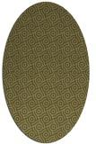 rug #312309 | oval light-green circles rug