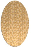 rug #312325 | oval white geometry rug