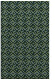 rug #312365 |  blue circles rug