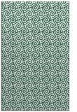 rug #312461 |  green circles rug