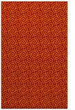rug #312517 |  red-orange circles rug