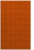 rug #312585 |  red-orange circles rug