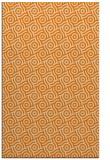rug #312645 |  orange circles rug