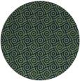 rug #312717 | round blue circles rug