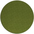 rug #312805 | round green rug