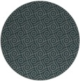 rug #312809 | round blue-green rug