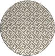 rug #312821   round white geometry rug
