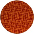 rug #312869 | round red-orange circles rug