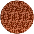 rug #312881 | round orange geometry rug