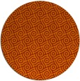 rug #312937 | round red-orange rug