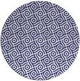 rug #312961 | round blue geometry rug