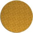 rug #312985 | round yellow geometry rug