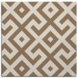 rug #313537   square mid-brown geometry rug