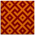 rug #313573 | square red-orange geometry rug