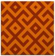 rug #313641 | square red-orange geometry rug