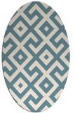 rug #313761 | oval blue-green rug