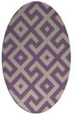 rug #313917 | oval beige geometry rug