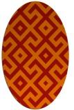 rug #313981 | oval red rug