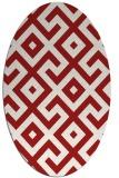 rug #313985 | oval red geometry rug