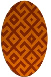 rug #313993 | oval red-orange geometry rug