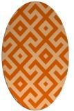 rug #313997 | oval red-orange rug