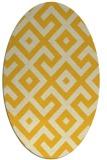rug #314025 | oval yellow geometry rug