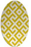 rug #314037 | oval yellow geometry rug