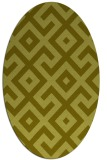 rug #314057 | oval light-green rug