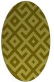 rug #314057 | oval light-green popular rug