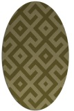 rug #314069 | oval light-green rug