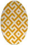 rug #314073 | oval light-orange rug