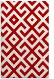 rug #314329 |  red geometry rug
