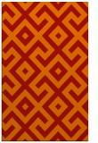 rug #314333 |  red geometry rug