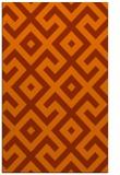 rug #314345    red-orange geometry rug