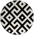 rug #314445   round white geometry rug