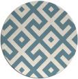 rug #314465 | round blue-green rug