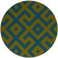 rug #314501 | round green geometry rug