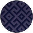 rug #314525 | round blue-violet rug